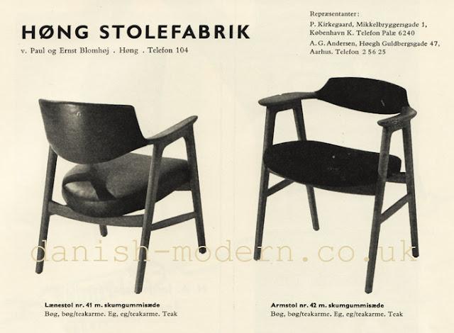 Ad for Høng Stolefabrik