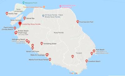 Peta Wisata Nusa Penida