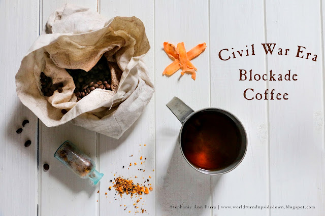 Civil War Era Blockade Coffee Recipe | This Recipe is a substitution recipe due to the blockade. | World Turn'd Upside Down