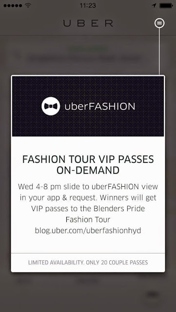 #HYDERABAD Your VIP pass to Uber Fashion Night Out