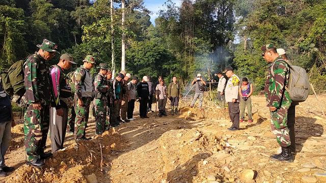 Berantas PETI, Tim Gabungan TNI- POLRI dan Pemkab Sarolangn Kembali Sisir Wilayah Lubuk Bedorong