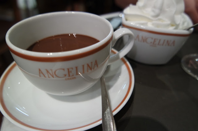 Angelina Porte Maillot Paris France Tea Room African Hot Chocolate