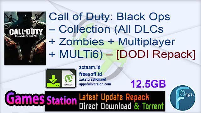 Call of Duty: Black Ops – Collection Edition (All DLCs + Zombies + Multiplayer + MULTi6) (From 7.1 GB) (Fast Install) – [DODI Repack]