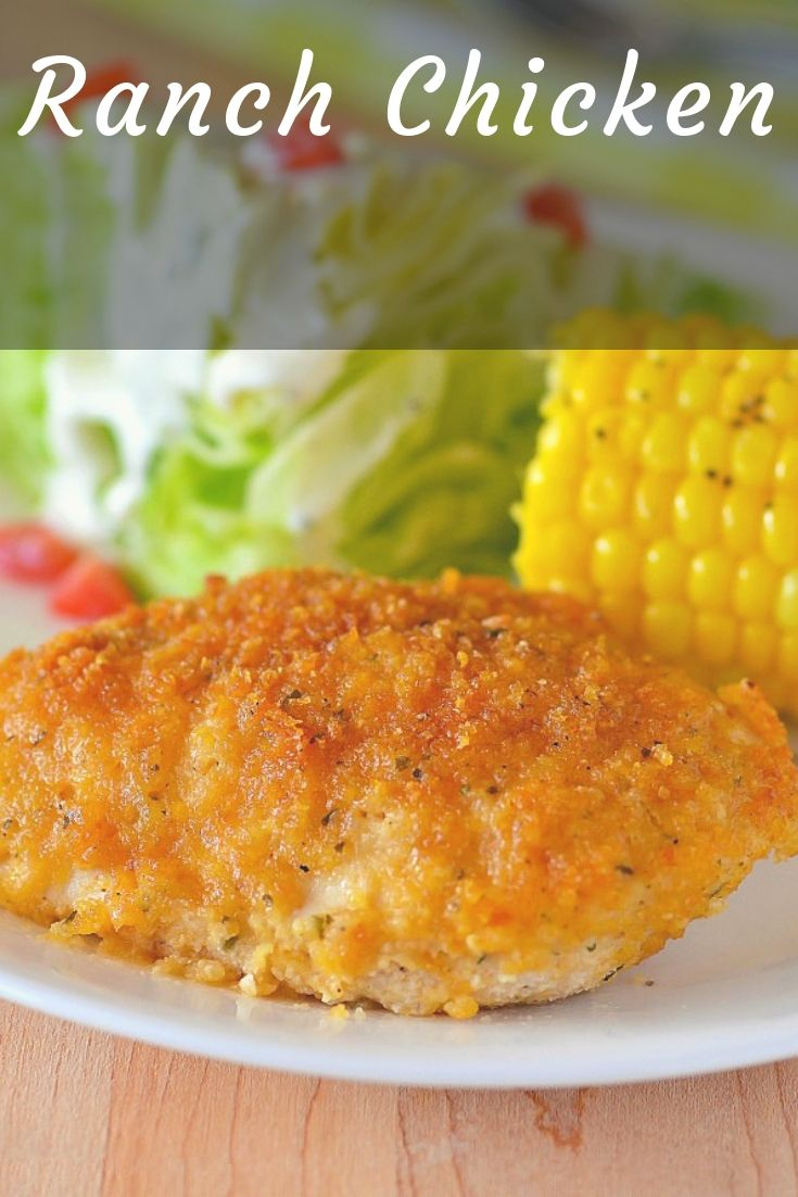 This Ranch Chicken is one of the most delicious chicken recipes you'll ever try. The outside coating is crispy and packed with flavor and the inside is tender and juicy!