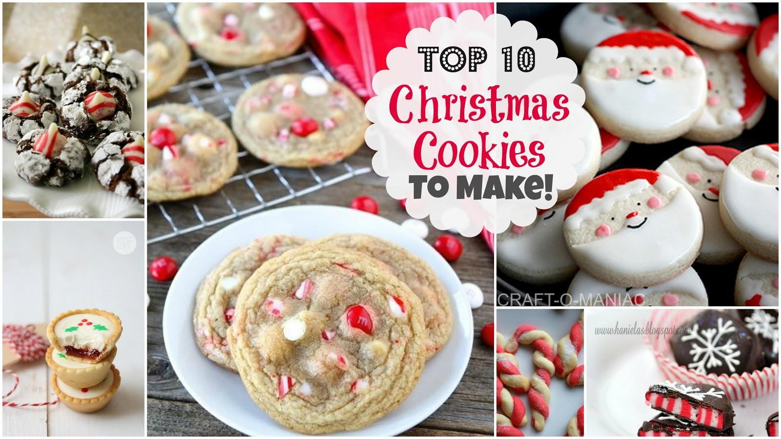 Top 10 Christmas Cookies to Make! - Craft-O-Maniac