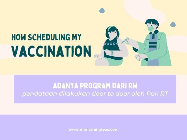 menjadwalkan vaksin