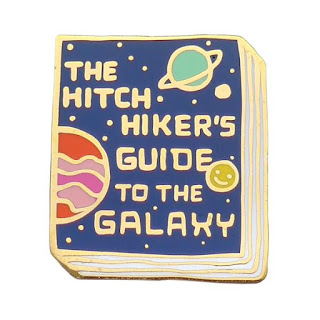 hitchhikers guide to the galaxy pin badge