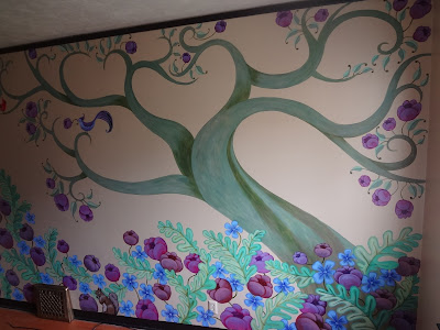 Tree of Life Mural, whimsical tree mural
