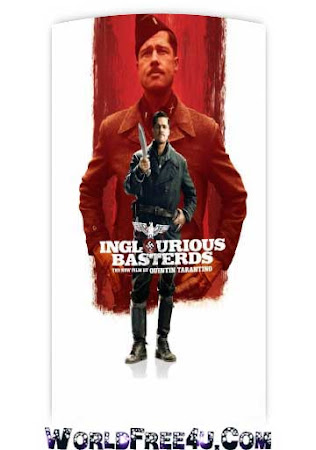 Poster Of Inglourious Basterds In Dual Audio Hindi English 300MB Compressed Small Size Pc Movie Free Download Only At worldfree4u.com
