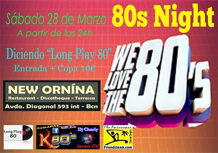Flyer 80s Night