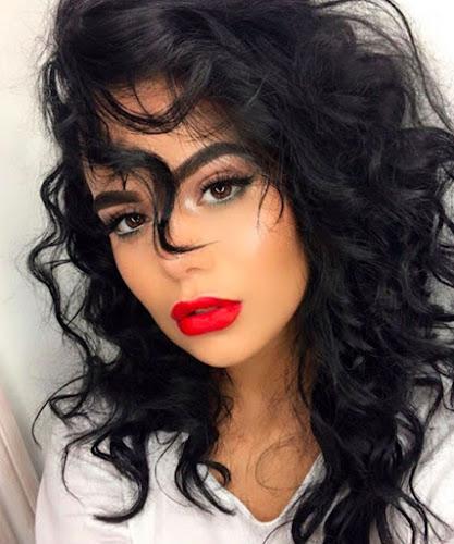 Maquillaje con un labial bonito