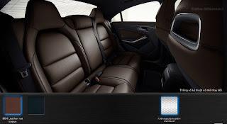 Nội thất Mercedes CLA 250 2018 màu Nâu Nut 804