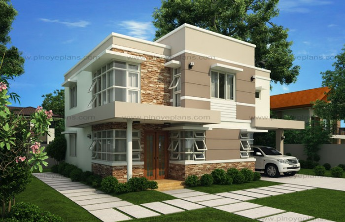 50 images of 15 two storey modern houses with floor plans for Up and down house design in the philippines