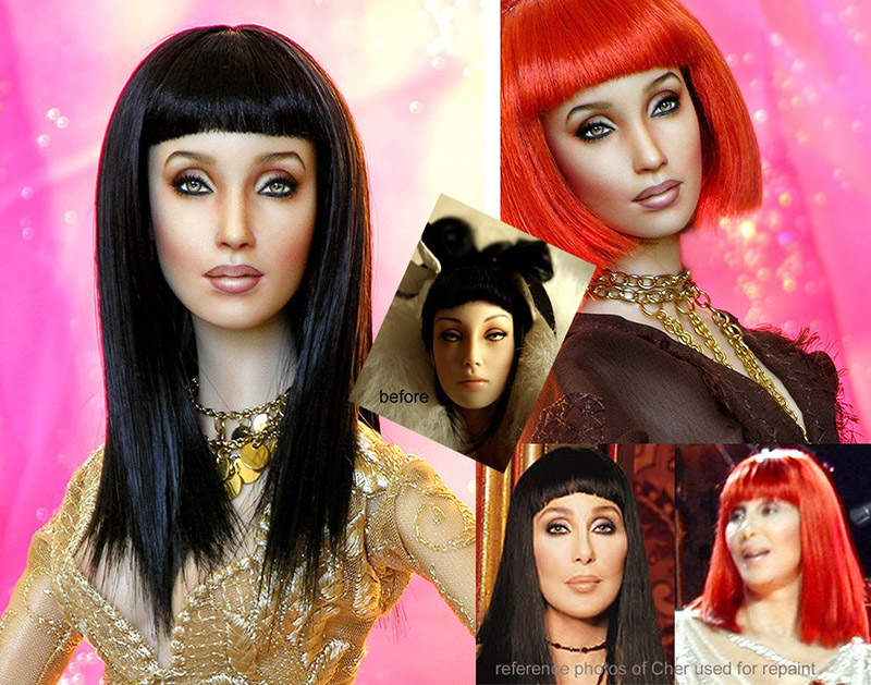 repainted Cher Doll