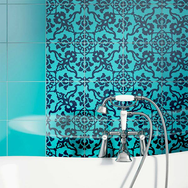 Tiles and Bathrooms Turquoise tiles