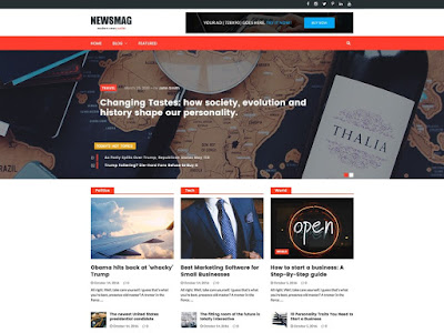 NewsMag Free Magazine Wordpress Theme
