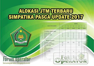 Alokasi JTM Simpatika Pasca Update 2017