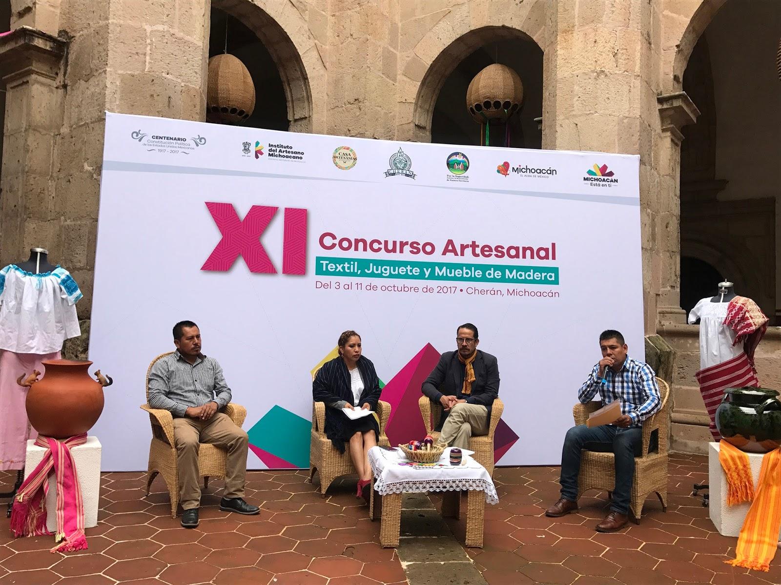Invita Iam Al Concurso Artesanal De Textil Y Madera De Cher N Red113 # Muebles Michoacan