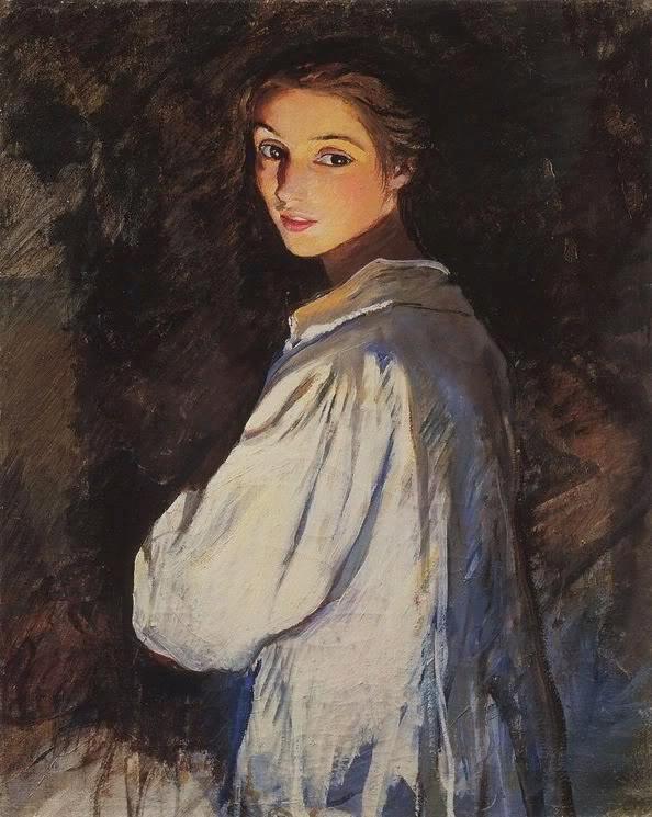 Серебрякова Зинаида Евгеньевна Девушка со свечой. Автопортрет