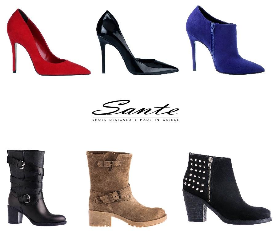 8495c84e368 Η νέα συλλογή της Sante shoes Φθινόπωρο Χειμώνας 2013-2014 περιλαμβάνει  μοντέρνα και νεανικά σχέδια σε γόβες, μπότες, μποτάκια και μπαλαρίνες.
