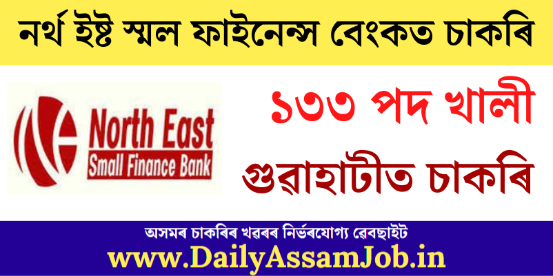 North East Small Finance Bank Recruitment 2021: Apply for 133 BDE, SWO & Other Vacancy