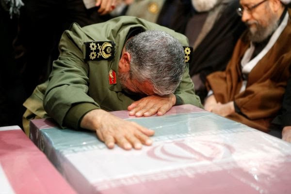 Our revenge against US is a God given promise - Military successor to killed Gen. Soleimani says while weeping over his coffin during funeral