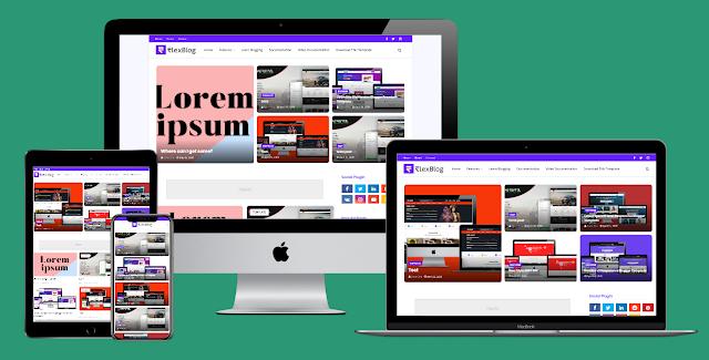FlexBlog Responsive Premium Blogger Template