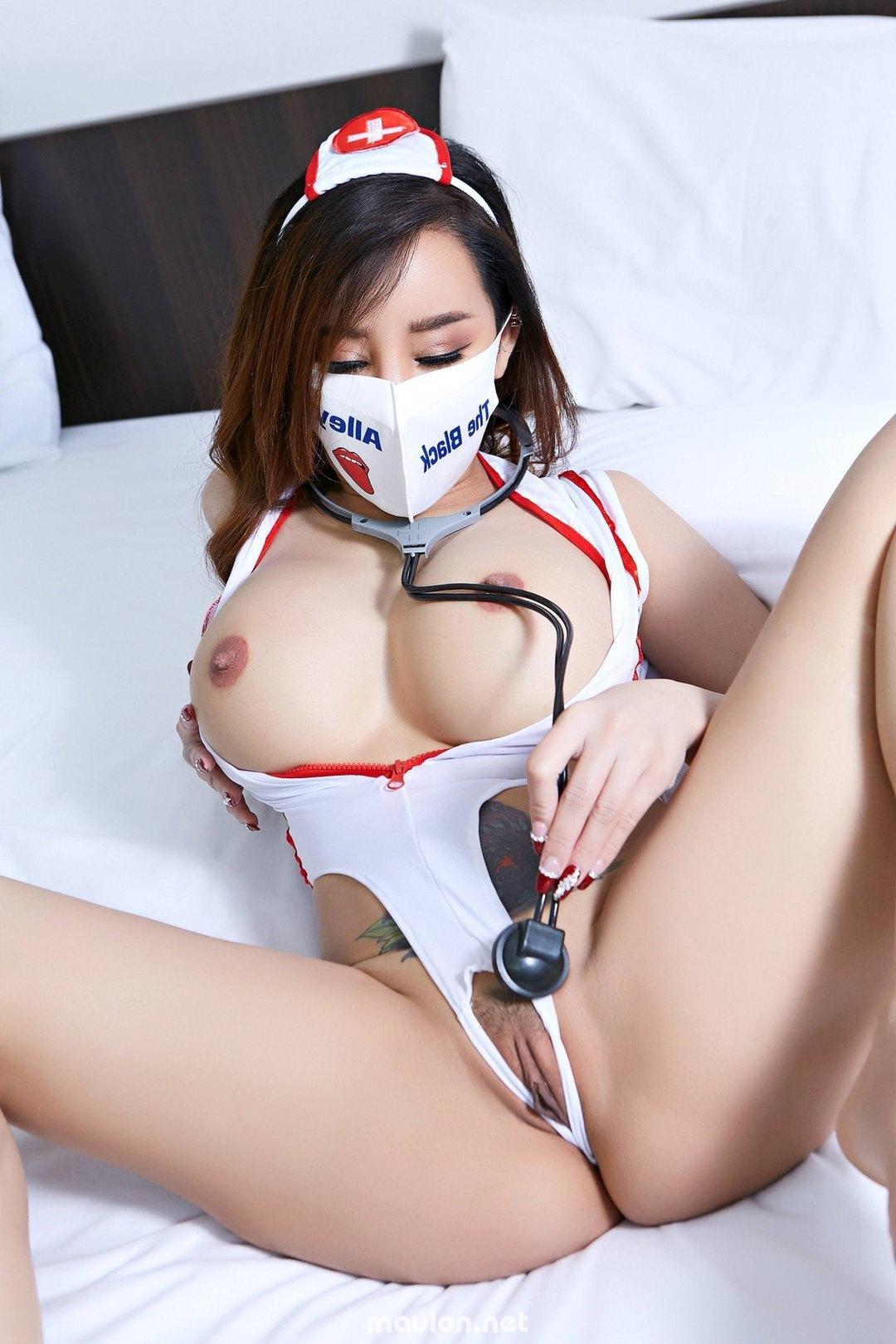 MauLon.Net - Ảnh sex thái lan - nữ y tá vú to đít bự
