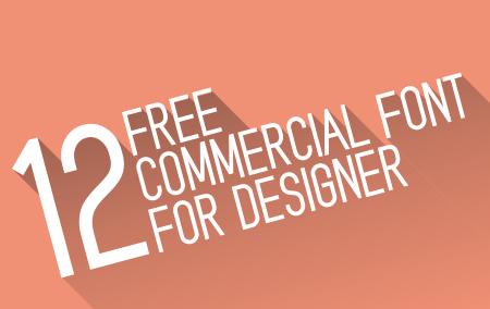 12 Commercial Font Terbaru Gratis Untuk Desainer Grafis