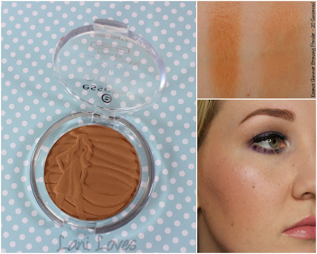 Essence Sun Club Shimmer Bronzing Powder - 20 Suntanned swatches & review