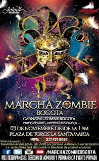 POSTER Marcha Zombie Bogotá 2018