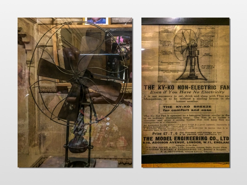 A kerosene operated Fan