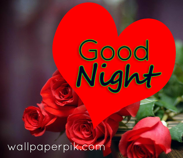 rose and heart good night image download