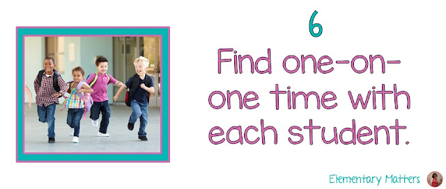 Seven Steps to a Happy Last Day of School Part 5: Find one-on-one time with every child. This post suggests how to organize the last day, and has a literacy center organization freebie!