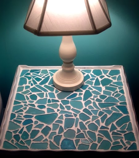 handmade glass mosaic table top