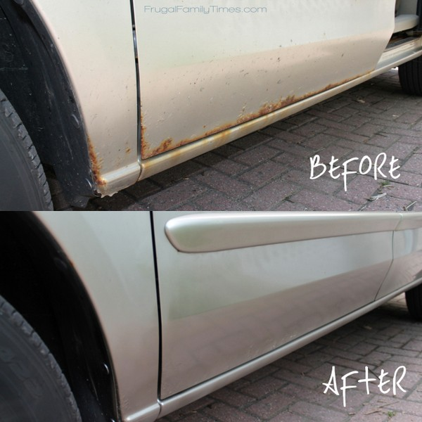 Diy rust removal make your beater better frugal family times by ed with intro by robin solutioingenieria Gallery