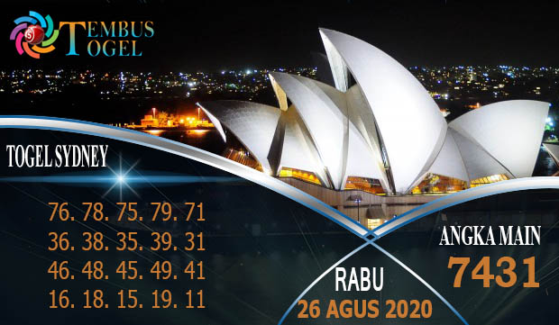 Prediksi Angka Togel Sidney Rabu 26 Agustus 2020