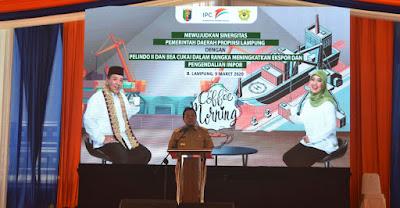 Gelar Coffee Morning Pemprov Lampung ajak IPC Panjang dan Pelaku Usaha Lampung Bersinergi Tingkatkan Ekspor