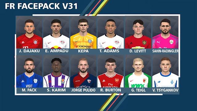 FR Facepack v31 For Pro Evolution Soccer 2017