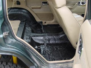 Floor pans painted with bedliner