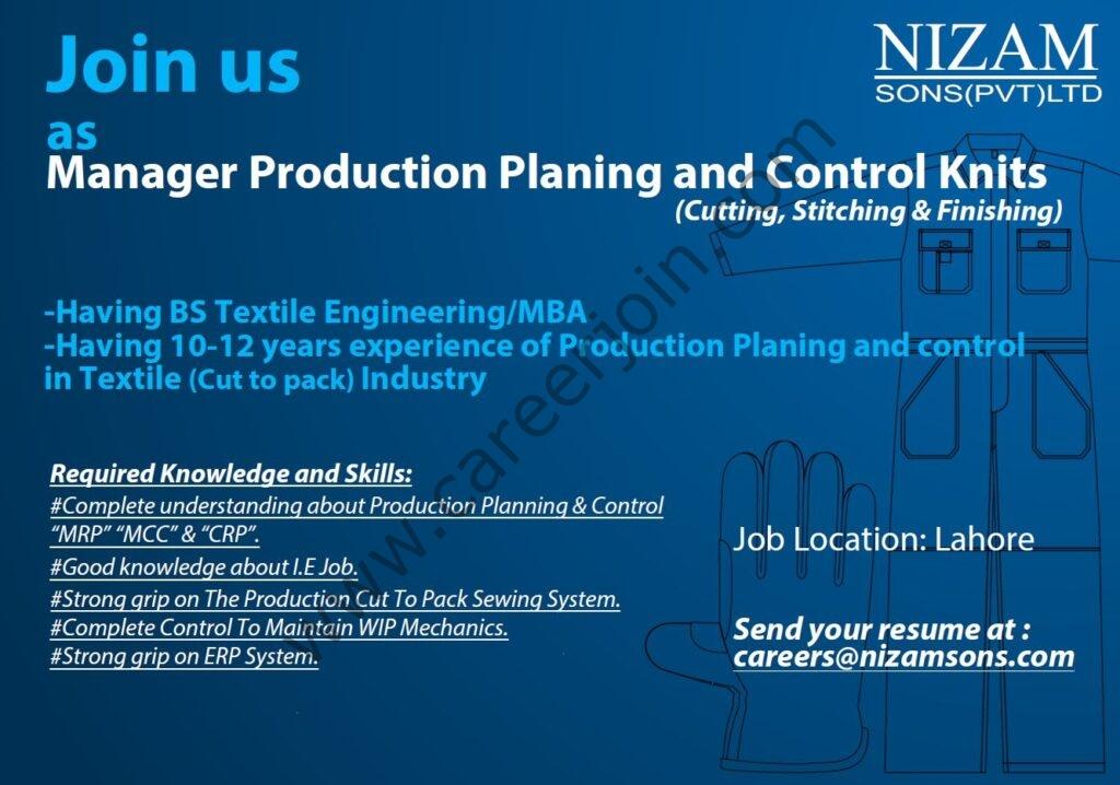 Nizam Sons Pvt Ltd Jobs August 2021