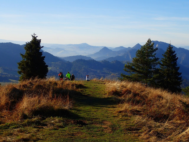 Jesienne widoki z Wysokiego Wierchu (898 m.n.p.m.) w Pieninach