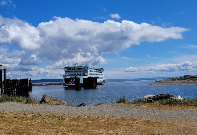 Arriving ferry at Coupeville Ferry Dock