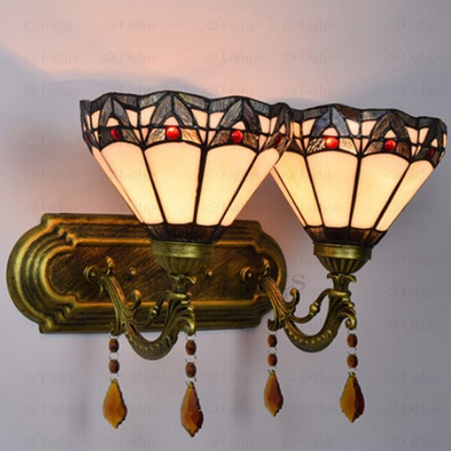 Crystal Ornament Metal Fixture Bedroom Tiffany Wall Sconces