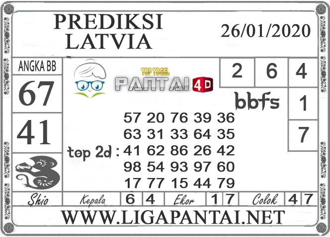 PREDIKSI TOGEL LATVIA PANTAI4D 26 JANUARI 2020
