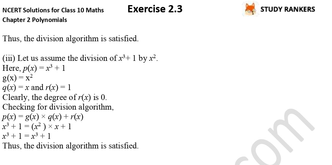 NCERT Solutions for Class 10 Maths Chapter 2 Polynomials Exercise 2.3 6