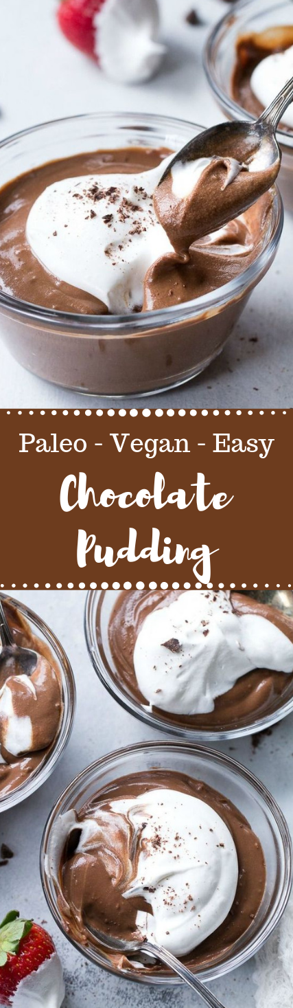 Easy Paleo & Vegan Chocolate Pudding #vegan #paleo #pudding #dessert #diet