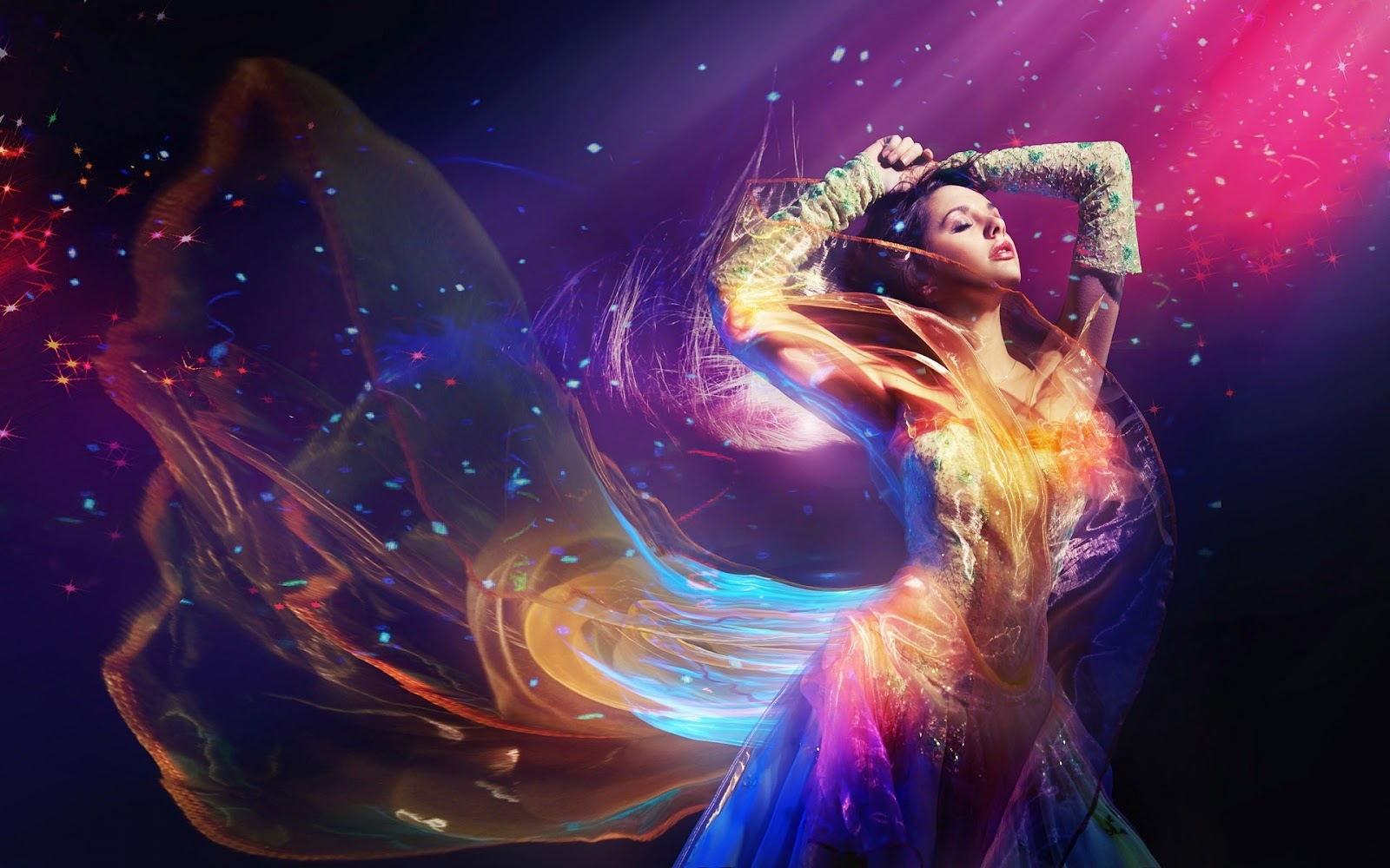 Abstract Painting Of Girl Dancing Creative Wallpapers For Desktop Wallpaper And Pictures