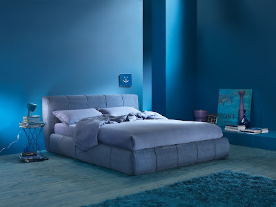 ห้องนอนโทนสีน้ำเงิน