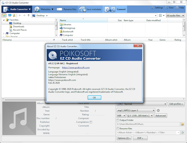Screenshot EZ CD Audio Converter 9.1.1.1 Full Version